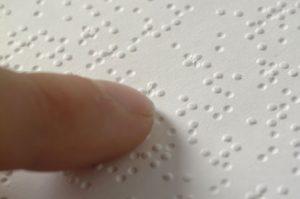 Menu restaurante en braille